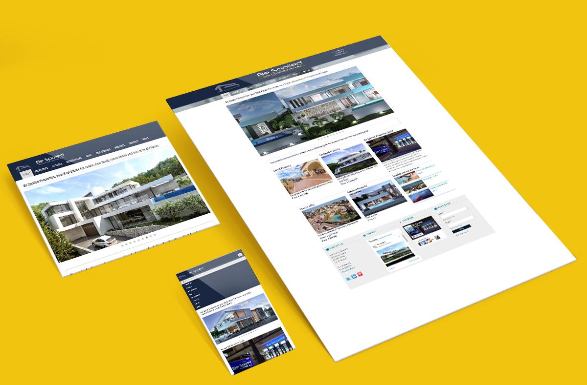 Bespoiled real estate in spain webspacez for Dutch real estate websites